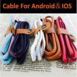 5 Colors New Style PU Leather 1m USB Charging Data Cable
