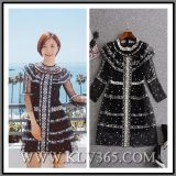 2017 Hot Selling Fashion Autumn Ladies Black Embroider Sexy Party Cocktail Dress