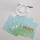 Foiling Enjoy Letter Paper Napkin for Party