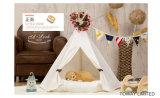 Pine Wood Dog Tents Pet Cotton White Pet House