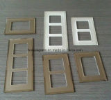 3&4mm Bevelled Edges Bornze Mirror Frosted Glass Switch Plate