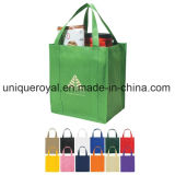 "80GSM Recyclable Non-Woven Shopping Tote Bag with Reinforced 20"" Handles"