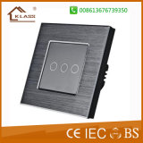 3 Gang Brushed Aluminum Home Electric Switch