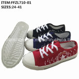 Latest Women Leisure Footwear Shoes Injection Canvas Shoes (FFZL710-01)