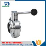 Stainless Steel AISI304 Hygienic SMS Welding Butterly Valves
