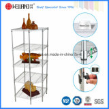 Modern Pentagon Chrome Metal Corner Storage Rack