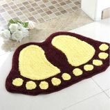 Acrylic Polyester Microfiber Nylon PP Footprint Foot Print Shape/Shaped Bath Shower Toilet Mats