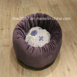 Manufacturer OEM Embroidery Dog Round Bed Cushion Plush Luxury