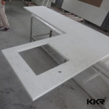 Kkr Smooth Surface L Shape Solid Surface Kitchen Counter Top