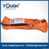 Orange6.6mmx15m4X4 Synthetic Winch Rope Tough Rope 100% Uhwmpe Fiber