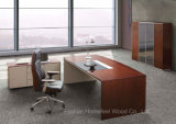 L Shape Modern Wooden Furniture Executive Office Table (HF-SI003)