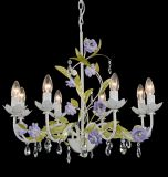Purple with Green Foral Chandelier