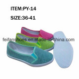 Women Flat Leisure Footwear Injection Canvas Shoes (FFPY0415-10)