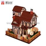 Handemade Wooden Toy DIY Dollhouse Flower Town