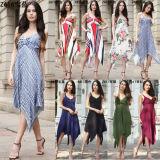 Women′s Floral V Neck Tunic Abaya/Kaftan (A944)