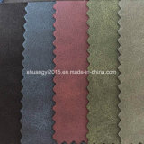 Two Tone Color Yangbuck PU Leather for Shoes