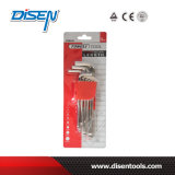 9PS Set Chrome Plated Ball End Allen Key