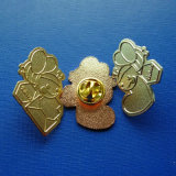 Custom Different Design Abt Frosted Gold Plate Lapel Pin (GZHY-LP-024)