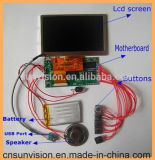 "Rechargeable Battery Video Greeting Card 4.3"" 5"" LCD Module"