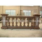 Granite Staircase Balustrade Stone Handrail for Interior or Exterior Garden