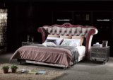 2016 Royal Style Fabric Tufted King Bed for Home (TB-002)