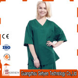 100% Cotton V-Neck Style Medical Uniform Scrubs