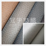 Thick Embossed Polyester Suede Leather for Sofa Cloth