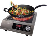 304 Stainless Steel ETL CE 3500W/1800W 110V/220V Commercial Induction Cooker for USA Italy Spain Market