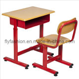 Guangzhou Flyfashion Classroom Usage Single Desk and Chair Set Wholesale