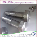 Galvanized Carbonl/Stainless Steel Hex Head Bolts DIN933/931 M6-M24