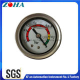 1.5 Inch/40mm Axial Glycerin Filled Vacuum Pressure Gauges with Colored Dial for Caution