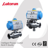 Sanitary/Food Grade Ball Valve with Air Operated Actuator