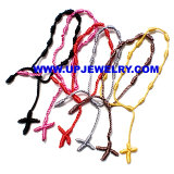 Religious Jewelry Knotted Thread Rosary Bracelet