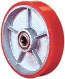 PU on Cast Iron Single Wheel - Red (5505560)