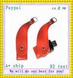 Promotion Cuboid Shape Leather USB Flash Drive (GC-M385)