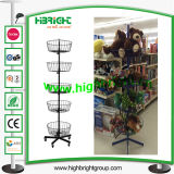 Metal Wire Rotating Basket Rack