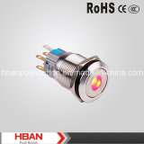 CE RoHS (19mm) DOT-Illumination Momentary LED Pushbutton Switches