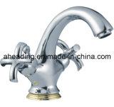 Dual Handle Basin Mixer Faucet (SW-77215)
