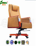 Swivel Leather High Quality Office Chair with Solid Wood (fy1025)