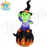 Inflatable Hallowmas Sitting Ghost with Ball for Decoration