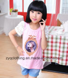 Rose T-Shirt, Round-Neck T-Shirt for Girls