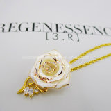 Fashion Jewelry Necklace/Gold Rose Necklaces/Christmas Decoration (XL020)