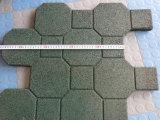 Outdoor Rubber Tile, Playground Rubber Tiles, Interlocking Rubber Tiles