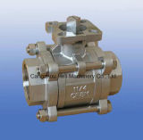 Stainless Steel 3PC Ball Valve with Mouiing Pad ISO5211