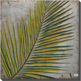 Green Big Palm Leaf Oil Painting (LH-500938-B)