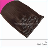 Wholesale Dark Brown Indian Clips in Hair Extensions