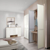 2015 New White Simple Flat Laminate Swing Wardrobe (YG61401)
