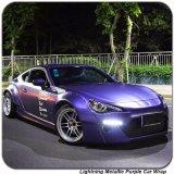 Tsautop 1.52*20m Lightning Metallic Chrome Purple Car Vinyl Wrap