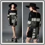 Fashion Sweet Ladies Half Sleeve Wool Winter Dress