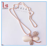 Fashion Accessories Sweater Chain Female Accessories Flower / Swan / Butterfly Gem Necklace
